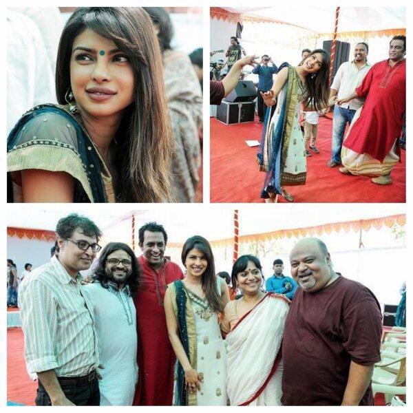 Priyanka Chopra lors de festival de Saraswati Puja