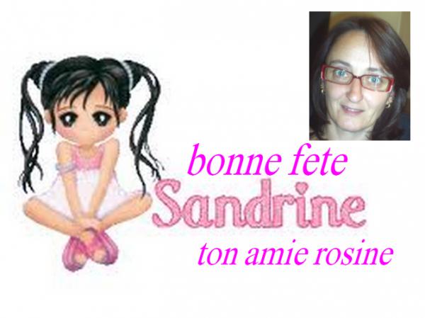 BONNE FETE A MON AMIE SANDRINE