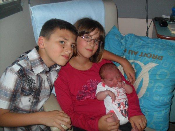 et voila mon 13er petit enfants Qentin et nee le 03 09 2012