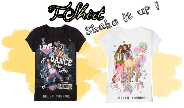 Vous pouvez achetés des T-Shirt Shake it up