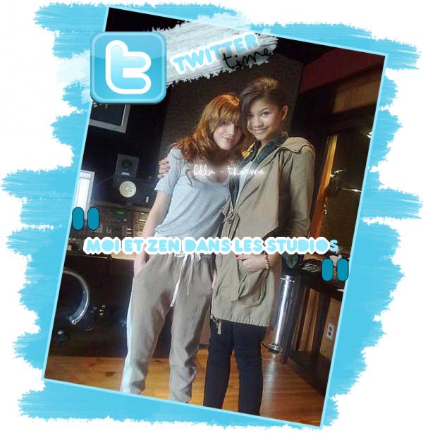 22/04/11 : Bella et Zen dans un studio d'enregistrement .
