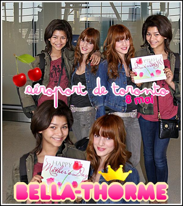 08/05/11 :  Bella et Zendaya ont été aperçu à l'aéroport de Toronto . Leur  film  Fremenies est terminé.