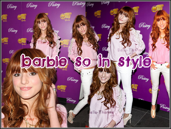 "19/0511 : Miss Thorne étant au Pastry Shoe's ""Barbie So In Style"" Collection Launch Party."