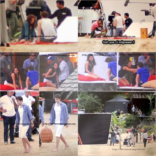 12.11.2010____~__Tournage à Mamanguà   Robert Pattinson et Kristen Stewart continuent le tournage de Breaking Dawn sur l'île d'Esmée, qui se situe en vrai dans la région de Mamanguà. On peut voir toute l'équipe qui s'est installée autour de l'immense maison.
