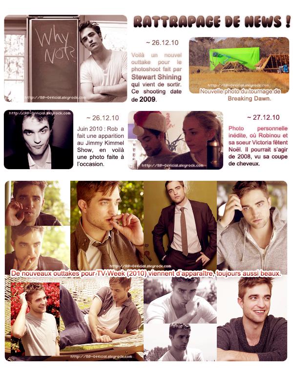 ~ du 26 décembre 2010 au 1er janvier 2011          News des derniers jours    { Photoshoots, Films, Divers }
