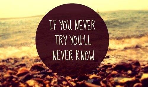 Si vous n'essayez jamais, vous ne saurez jamais