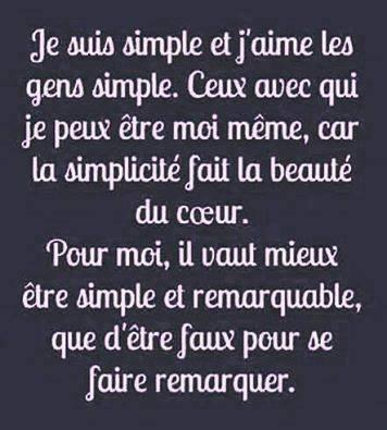 simplicité remarquable