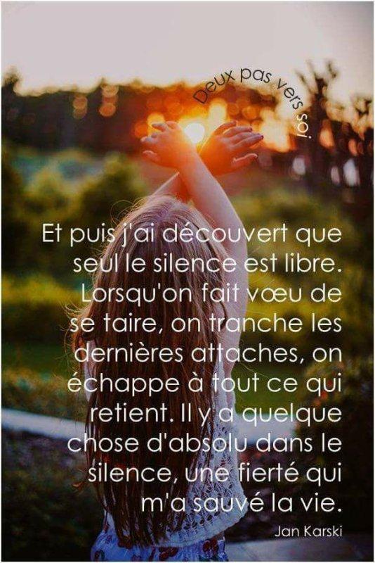 le silence est libre