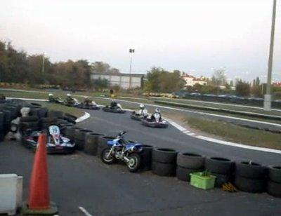 Les photos du depart de la course (je suis en pole)