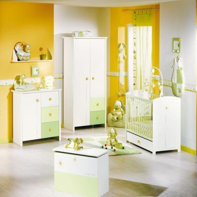 Chambre sauthon soleil l 39 univers de b b - Couleur de chambre pour bebe mixte ...