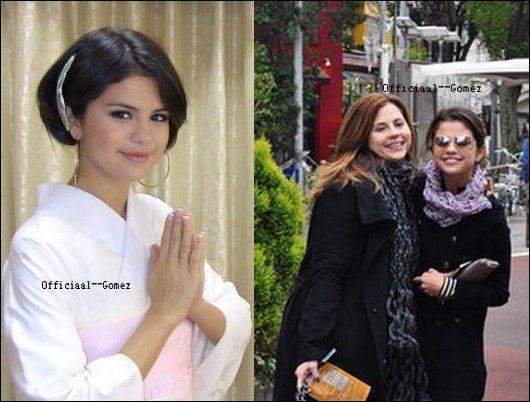 17 / O3 / 11 : Selena a été aperçu à l'aéroport de New-York ( à gauche ) & elle a été ensuite aperçu arrivé à l'aéroport de L.A ( à droite )