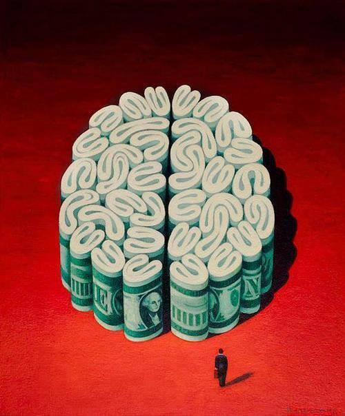 Le bonheur des malheureux, la richesse des pauvres d'esprit.