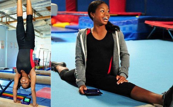 Gabby Douglas La championne olympique a tourné une pub de sensibilisation contre le téléphone au volant.