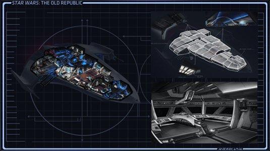 Conception des vaisseaux de star wars the old republic for Interieur vaisseau star wars
