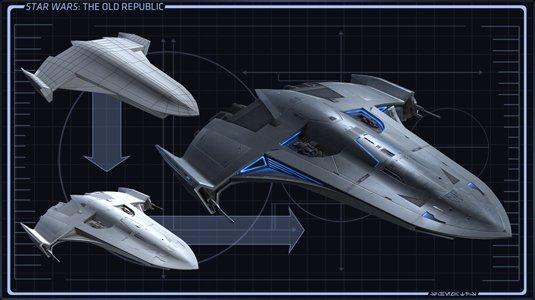 Conception des vaisseaux de Star Wars the old Republic. (Part 2)