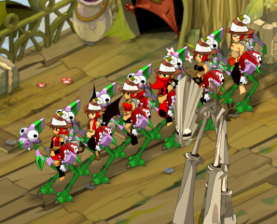 La team avance en tapant du Kaskargo ! :P