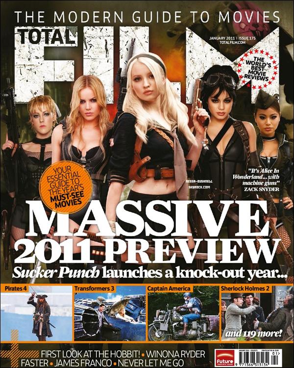 """_ Scans du magazine """"Total Film"""" où le cast de Sucker Punch dont Vanessa est en couverture."""