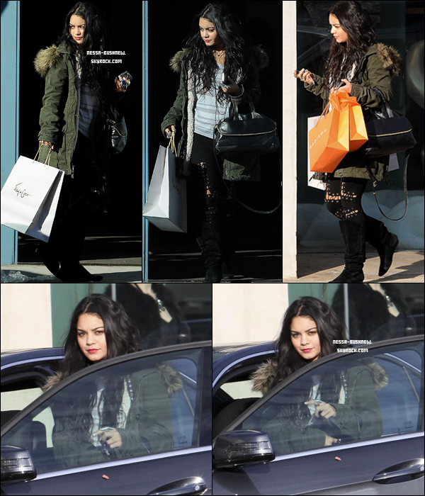 _ 30.12 : Vanessa qui fait du shopping au Foley+Corinna and Madison sur Melrose Avenue à L.A.