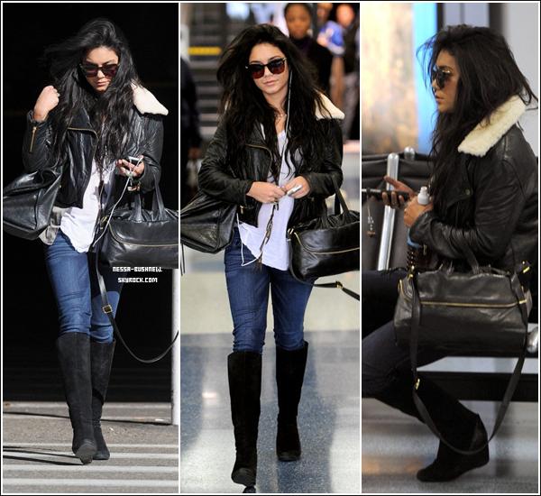 _ Vanessa à l'aéroport LAX de Los Angeles, après avoir pris un vol de la Caroline du Nord le 13 janvier.