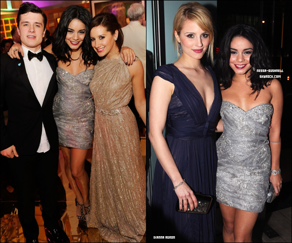 _ Vanessa à la 19th Annual Elton John AIDS Foundation Academy Awards Party à L.A le 27 février. ♥ Elle y a assisté avec Ashley Tisdale, Nicole Richie et Josh Hutcherson avec qui on la voit souvent en ce moment.