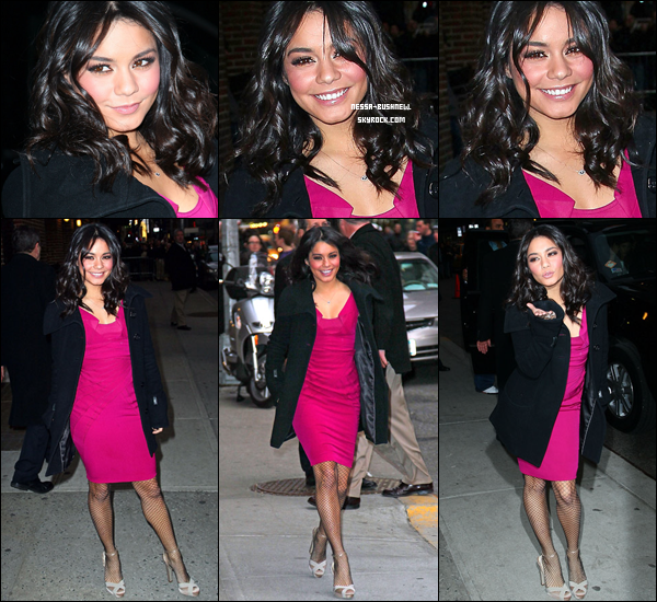 _ Vanessa en interview dans la célèbre émission de David Letterman à New York le 2 mars. ♥