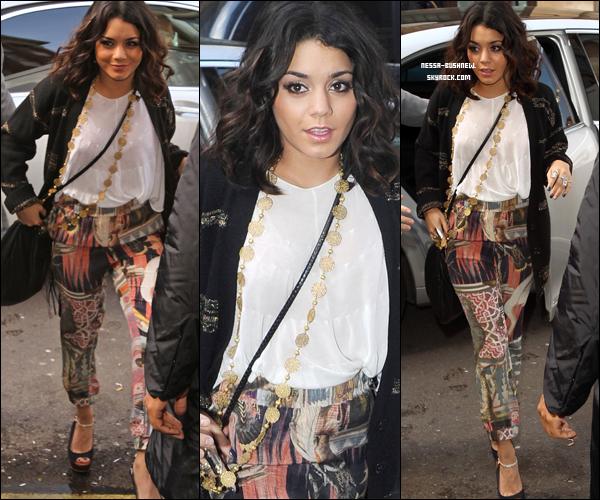 _ 31.03 : Vanessa qui enregistre plusieurs interviews pendant une journée de promotion à Londres.