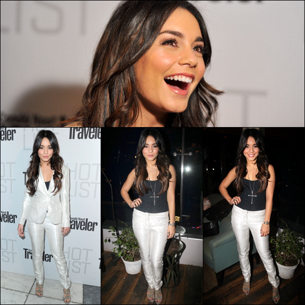 "_ Vanessa au ""Conde Nast Hot List Party"" à Los Angeles le 11 avril.__ Tu aimes ses extensions ?"