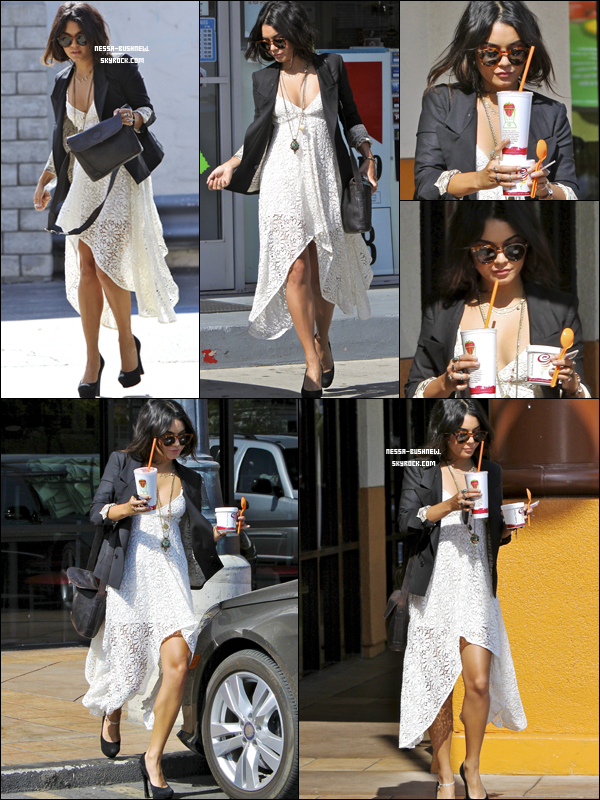 _ Vanessa quittant le Jamba Juice après un rendez-vous d'affaires à Studio City le 5 mai. Top ou Flop ? ♥