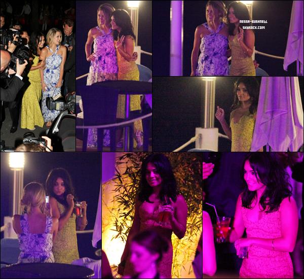 _ 12.05 : Vanessa et Rosario Dawson à l'événement de Calvin Klein lié au Festival de Cannes en France. ♥