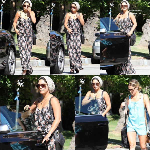 _ Vanessa quittant un rendez vous d'affaires à Los Angeles dans la journée du 24 août. ♥  _