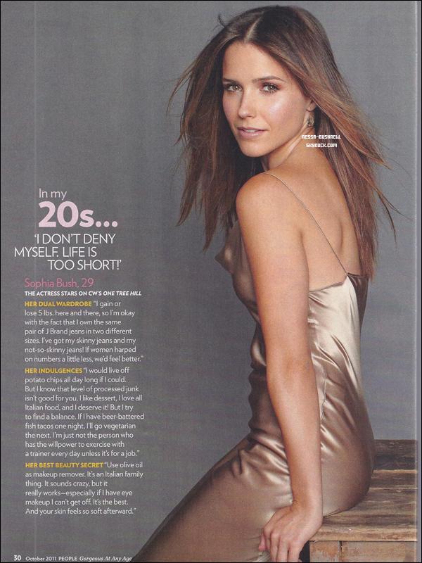 _ Photoshoot de Sophia pour le magazine People. ♥ (Les photos officielles ne sont pas encore sorties, d'où les captures). _
