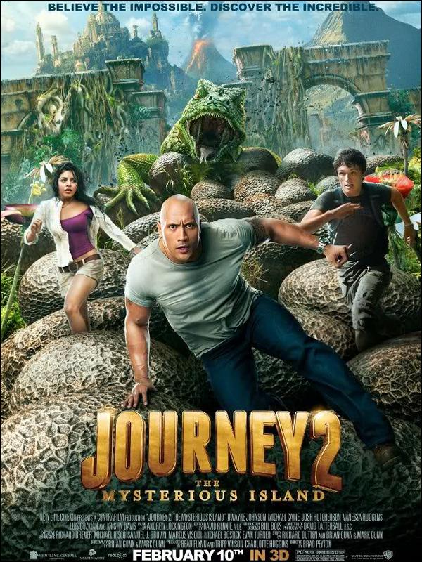 """_ Poster du film """"Journey 2 : The Mysterious Island"""" de Vanessa. Il sort le 10 février aux Etats Unis ! _"""