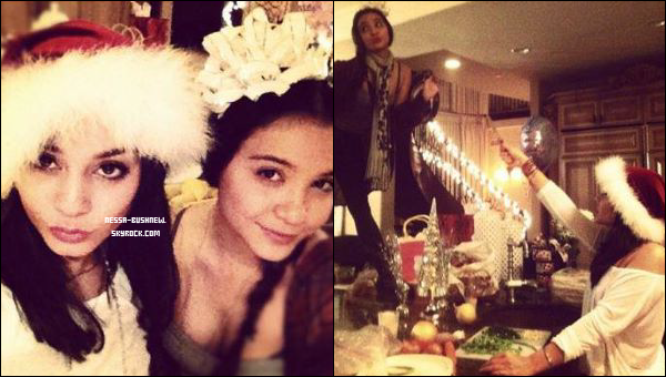 _ Photos de Vanessa et sa soeur Stella célébrant Noël en famille dans la soirée du 24 décembre ! _