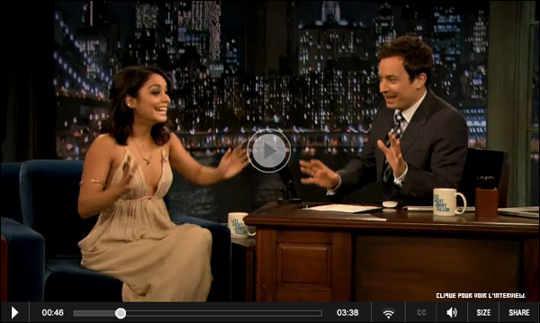 "_ Vanessa à l'émission "" LATE NIGHT WITH JIMMY FALLON"" le 8 Février à New York. _"