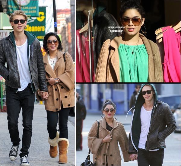 _ Vanessa et Austin Butler qui font du shopping à New York le 17 et 18 mars. _