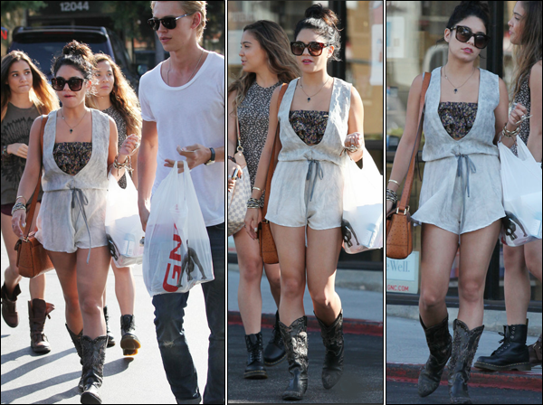 _ Vanessa et Austin qui font du shopping avec Stella et une amie à Los Angeles le 7 juin. _