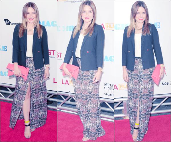 """_ Sophia à la première de """"Magic Mike"""" au cinéma Regal de Los Angeles dans la soirée du 24 juin. _"""