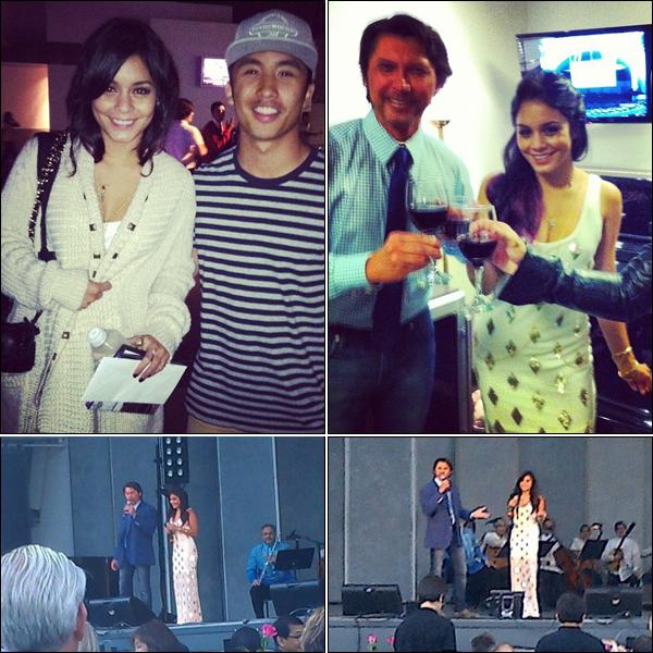 _ Vanessa au Hollywood Bowl, célébrant la musique philippine dans la soirée du 8 juillet. _