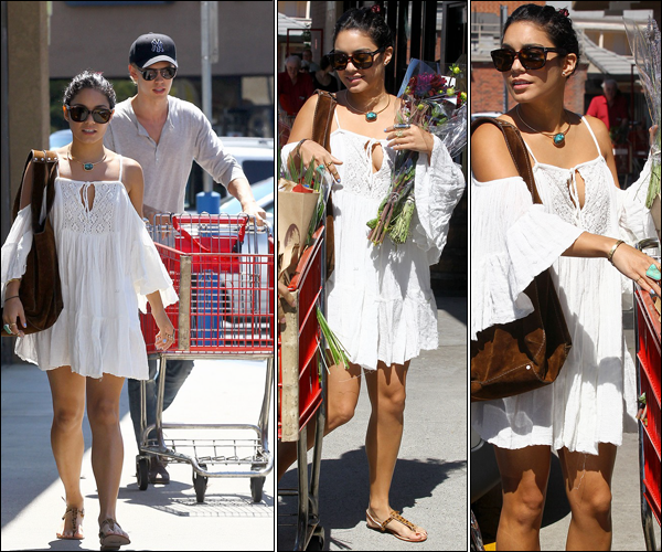_ Vanessa et Austin qui vont faire des courses au Trader Joe's dans la journée du 16 juillet. _
