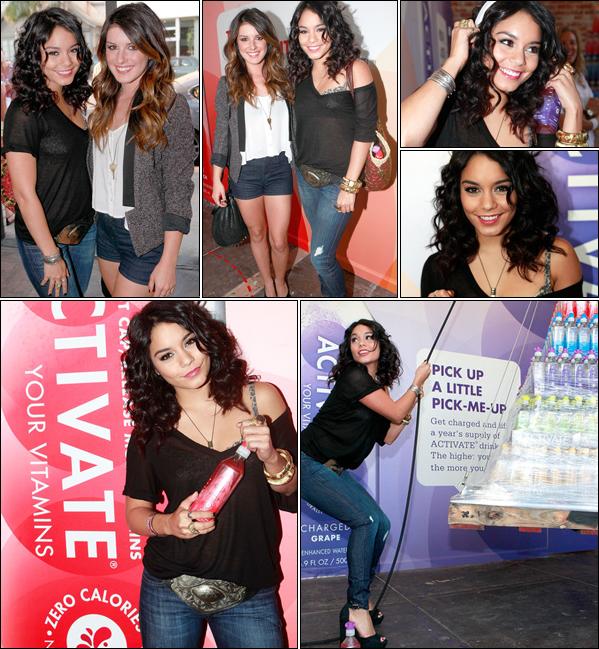 """_ Vanessa à l'inauguration de la boutique """"Get Activated Pop-Up"""" avec Shenae Grimes le 2 août. _"""
