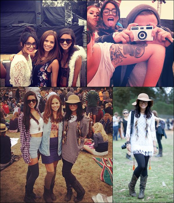 """_ Vanessa au festival de musique """"Outside Lands"""" avec ses amis à San Francisco le 10 août. _"""