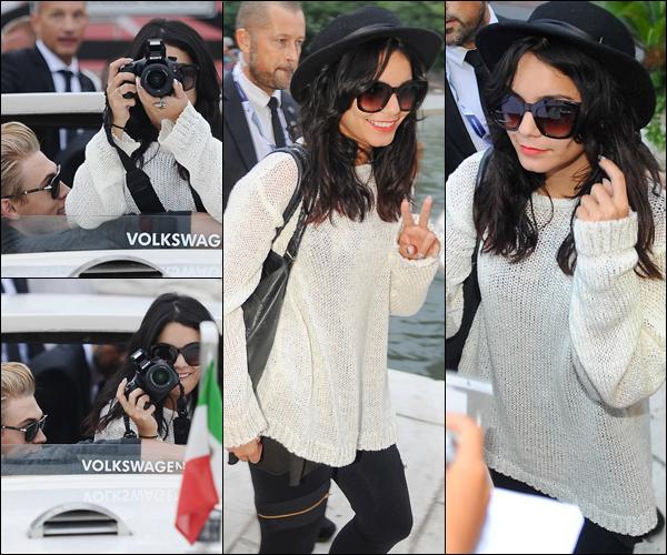 _ 04.09 : Vanessa et Austin à peine arrivés en Italie, se rendant à leur hôtel via un taxi bateau. _