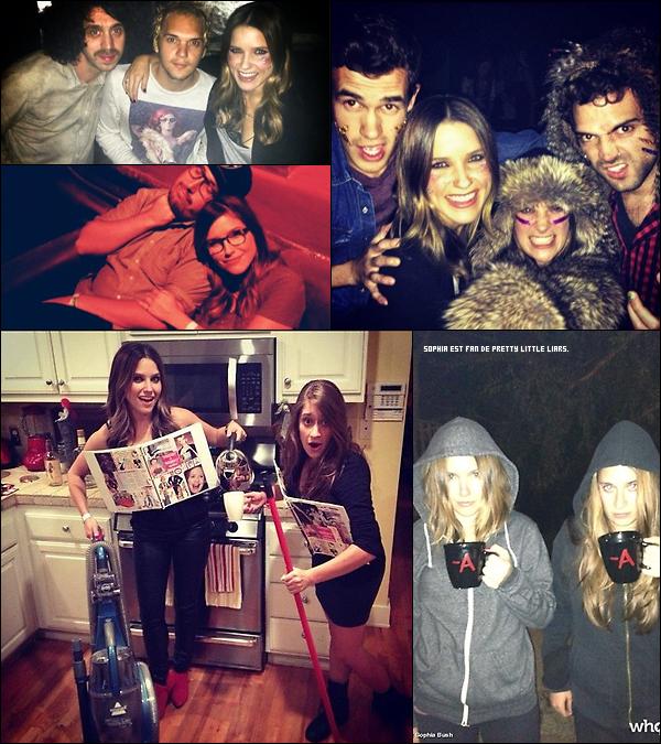 _ Diverses photos de Sophia avec des amis provenant de twitter datant de fin octobre. _