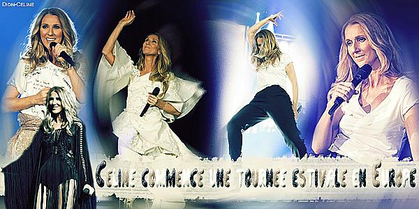 .  Juin 2017 : Céline a commencé sa tournée européenne 2017♥