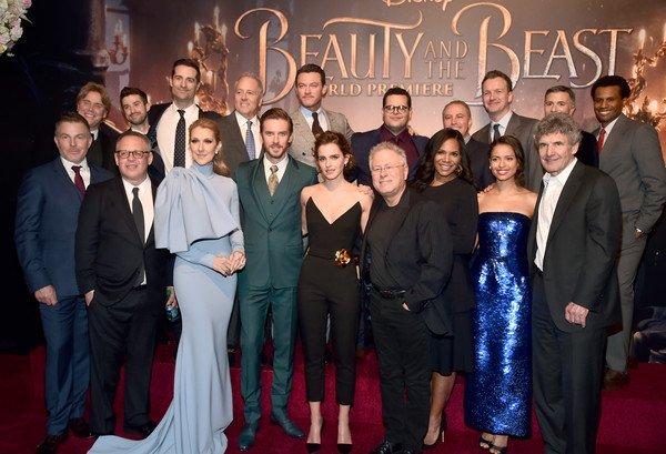 """.  02/03/2017 : Céline était à l'avant première du film """" Beauty and the beast """"."""