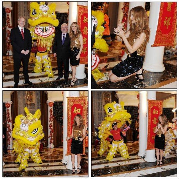 .  22/01/2012 : Céline Dion a célébré le Nouvel An Chinois
