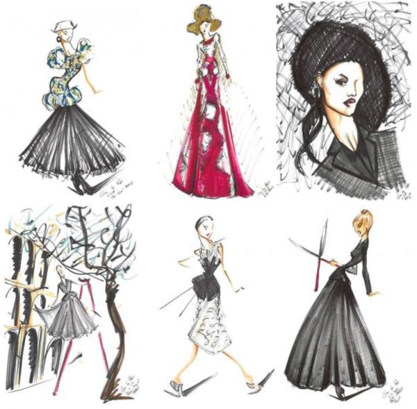 .  Mode :Voici les dessins de Céline par Pepe Munoz  On le connait comme son danseur mais Pepe est avant tout illustrateur de mode  .