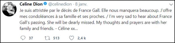 .  07/01/2018 : Une triste nouvelle: Le décès de France Gall Je profite de lui rendre hommage avec cette émission diffusée le 21 novembre 2007  .