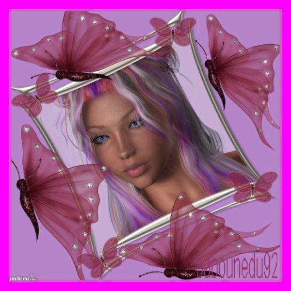 fée des papillon rose