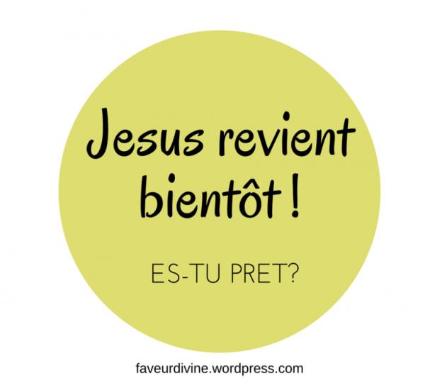 AVERTISSEMENTS : PRÉPAREZ-VOUS JÉSUS REVIENT BIENTÔT !